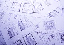 Architecture plan Royalty Free Stock Photos