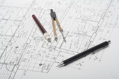 Architecture plan Stock Photography