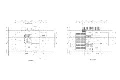 Architecture plan drawing royalty free illustration