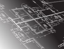 Architecture plan guide illustration design Royalty Free Stock Images