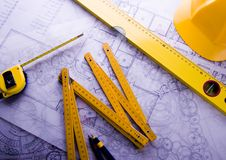 Architecture plan  & home Royalty Free Stock Photos