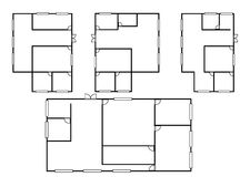 Architecture plan in top view Royalty Free Stock Photography