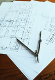 Architecture plan work 2 Royalty Free Stock Images