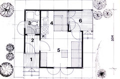 Architecture planning. Of interriors with dimensions Royalty Free Stock Image