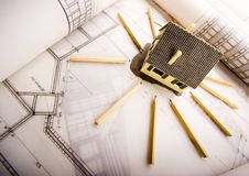 Architecture planning Royalty Free Stock Photography