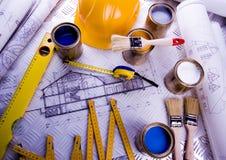 Architecture plans Stock Photos