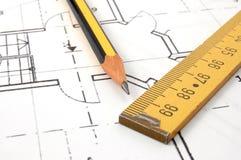 Architecture plans Stock Image