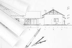 Architecture plans and drawing Royalty Free Stock Photography