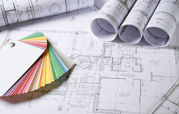 Architecture plans Stock Photography