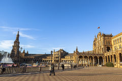 Architecture of Plaza de Espana, Sevilla, Spain Royalty Free Stock Image