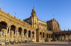 Architecture of Plaza de Espana, Sevilla, Spain Royalty Free Stock Photography