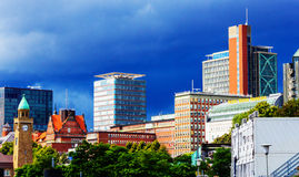 Architecture at the Port of Hamburg, Germany Royalty Free Stock Photo