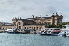 Architecture of Port Vell, Barcelona, Spain Royalty Free Stock Images