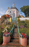 Architecture at Portmeirion. The village of Portmeirion was designed in an Italian style by Sir Clough Williams-Ellis in the 1920s Royalty Free Stock Images