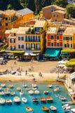 Architecture of Portofino, Italy Stock Image