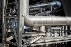 Powerhouse pipe system Stock Photos
