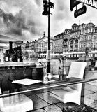 Architecture in Poznan. Artistic look in black and white. Royalty Free Stock Photo