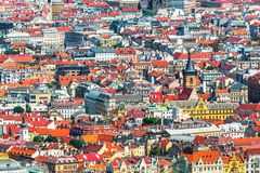 Architecture of Prague, Czech Republic Stock Images