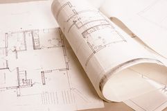 Architecture project Royalty Free Stock Photos