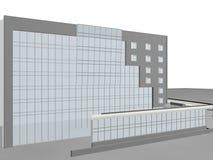 Architecture project 3d model vizualization building. Architecture project 3d model vizualization the building vector illustration