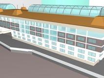 Architecture project 3d model vizualization building. Architecture project 3d model vizualization the building royalty free illustration
