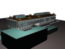 Architecture project 3d model vizualization building. Architecture project 3d model vizualization the building stock illustration