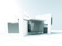 Architecture project design Royalty Free Stock Photography