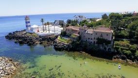 Santa Marta Lighthouse, Cascais, Portugal royalty free stock photos