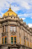 Architecture of Puebla, Mexico. PUEBLA, MEXICO - OCT 30, 2016: Architecture of historic centre of Puebla, Mexico. The city was founded in 1531 in an area called Stock Photo