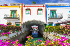 Architecture of Puerto de Mogan on Gran Caria island Stock Image
