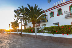 Architecture of Puerto de Mogan Stock Photo