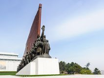 Architecture of Pyongyang, North Korea Stock Photography