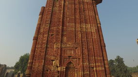 Architecture at the Qutb Minar complex - India stock video footage