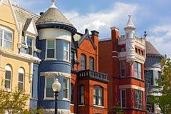 Architecture résidentielle historique de Washington DC photo stock