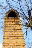 Architecture. Red brick chimney exterior. Royalty Free Stock Photos
