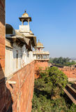 Architecture of Red Fort in Agra, India Stock Images