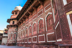 Architecture of Red Fort in Agra, India Stock Photo