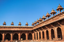 Architecture of Red Fort in Agra, India Stock Image