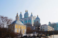 Architecture. Religion. Holy Dormition Cathedral. Stock Photos