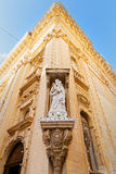 Architecture and religious devotion in Malta Stock Photo