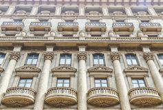 Architecture of a residential building in Spain, city of Barcelo Royalty Free Stock Photos