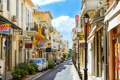 Architecture of resort town Rethymno, Greece Crete Royalty Free Stock Image