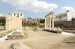 Architecture,  roman history in Athens. Architecture,  roman history ,Athens Stock Photo