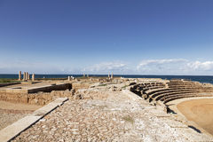 The architecture of the Roman period in the national park Caesarea Stock Images