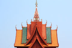 Architecture of roof  thai temple Royalty Free Stock Photo