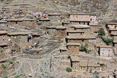 Architecture rurale de Berber de région de montagnes d'atlas au Maroc Images libres de droits