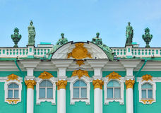 Architecture of russian Hermitage Stock Image