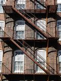 Architecture: rusty steel fire escape v Stock Images