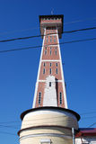 Architecture of Rybinsk town, Russia. Fire tower Royalty Free Stock Photo