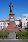 Architecture of Rybinsk town, Russia. Monument to Vladimir Lenin Stock Photos